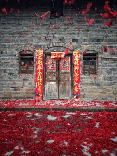 Door Red Built