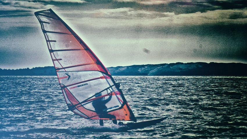 In the wind Adventure Curonian Bay Curonian Spit Outdoors Sailing Sea Sport Water Wind Windsurfing
