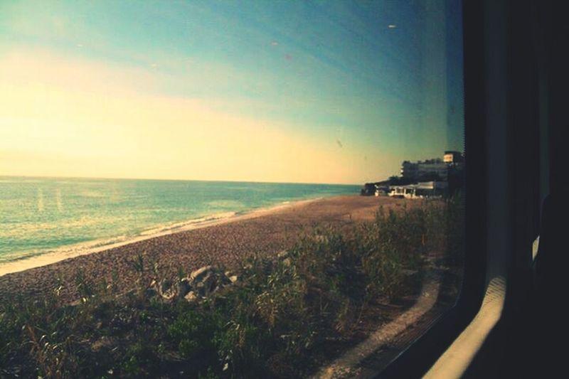 Maresme Santa Susana Playa Train View