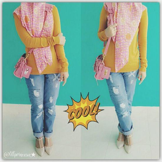 Ootd Hijabstyle  Hijabbeauty Hijabfashion Fashionista Street Fashion Hanging Out