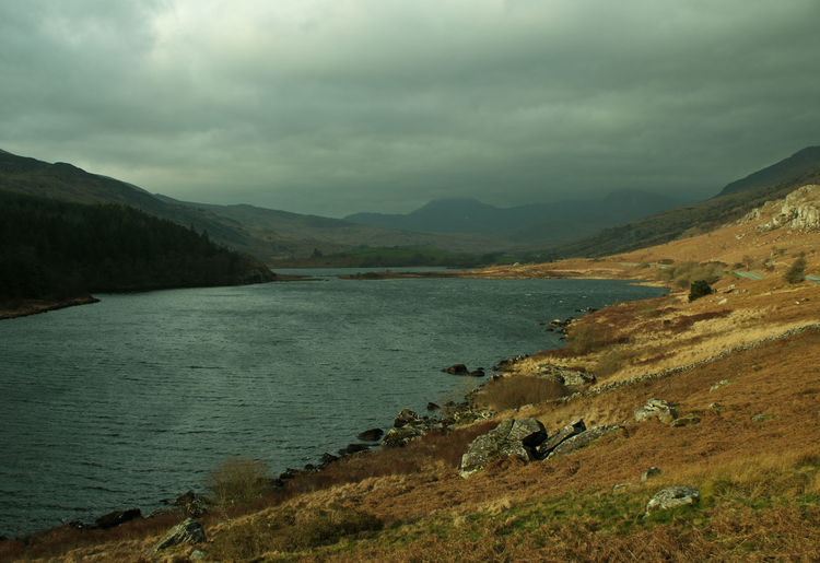 Welsh Countryside Mountains Wales Water Mountain Lake Sky Landscape Mountain Range Wilderness Tranquil Scene Calm Countryside Tranquility Scenics Woods