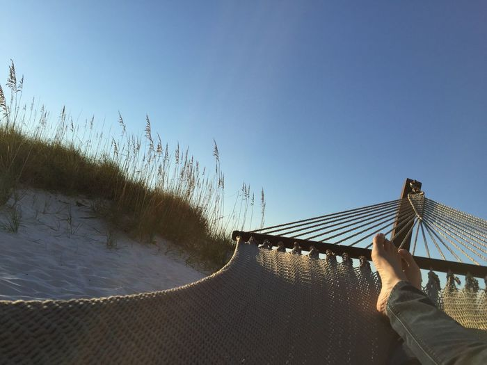Florida life Relaxation Beside The Sea Relaxation Hammock Feet Real People Leisure Activity Lifestyles Outdoors