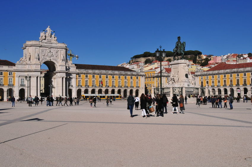 Plaza Adult Architecture Building Exterior Built Structure City City Life Crowd Day History Human Eye Large Group Of People Men Outdoors People Praça Do Comércio, Lisboa Town Square Travel Destinations