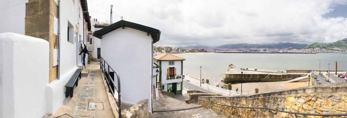 Algorta Algorta Port Basque Country Bizkaia Cantabric Sea Day Euskadi Getxo No People Old Buildings Old Town Outdoors Panoramic Port Portu Zaharra Puerto Viejo Sky SPAIN Travel Destinations Vizcaya