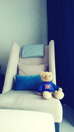 Teddy Bear Stuffed Toy Toy Childhood Indoors  Domestic Life Day No People SweetTime Chairs Soft Relaxing