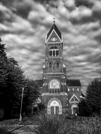Followme Church Picoftheday Nature Blackandwhite Architecture Built Structure Building Exterior Sky Tower Cloud - Sky Low Angle View Building Tree Travel Destinations City Tourism Travel No People Nature Day Clock Tower Outdoors Plant Tall - High