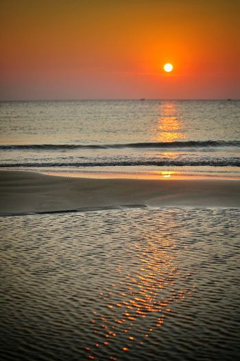 Sunset Sea Beach Reflection Scenics Nature Beauty In Nature Horizon Over Water Sky Orange Color Tranquil Scene Tranquility Landscape Travel Destinations Water Outdoors Cloud - Sky Tourism Sun No People Puglia South Italy Puglia Gargano Coast Vieste Puglia Vieste Gargano Puglia