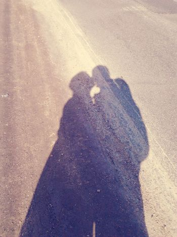 Shadow of a kiss Real People Sunlight Shadow People Silhouette Love Valentine's Day  Romantic Together