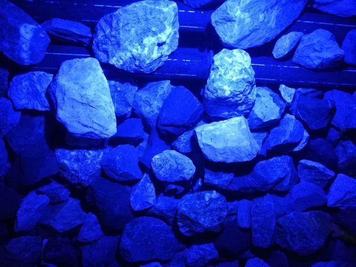 rocks under blue lights under water Lights Rock - Object Blue Underwater Full Frame Backgrounds Blue No People