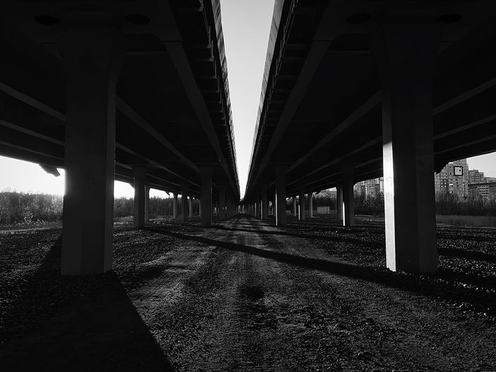 Built Structure Architecture Bridge Bridge - Man Made Structure Architectural Column Connection Day Transportation Direction The Way Forward City Sky Outdoors Long Sunlight Underneath No People