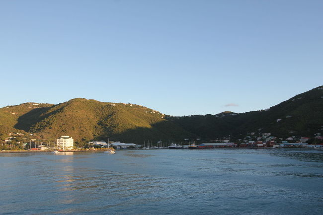 Road Town on Tortola at Sunrise, 2013 2013 Beauty In Nature Blue British Virgin Islands Bvi Caribbean Caribbean Cruise Caribbean Island Clear Sky Day Mountain Nature No People Outdoors Road Town Scenics Sea Sky Sunrise Sunup Tortola Tranquil Scene Tranquility View From Cruise Ship Water