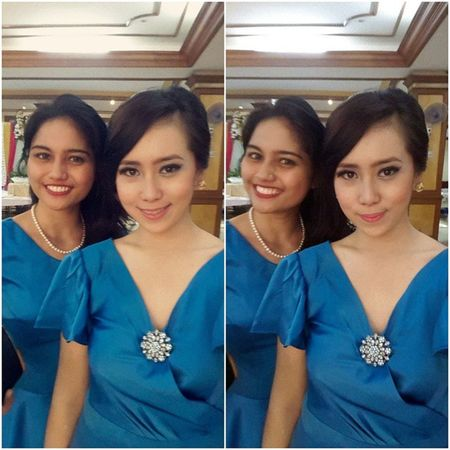 my beautiful partner yeay! Beautiful Blue Longdress Wedding party bestfriend love