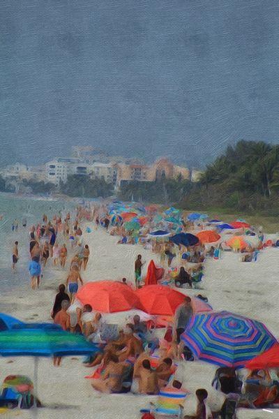 Beachscape Beach Holiday Leisure Activity Beach Sand Sea High Angle View Vibrant Colors Paint Edit