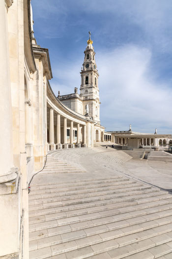 Monumental ensemble of the sanctuary and the basilica of our lady of fatima