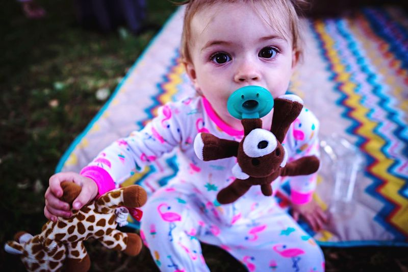 My niece Princess Tatum Toddler  Baby Baby Girl Pacifier Binky Childhood One Person Toy Focus On Foreground Baby Portrait Babyhood Looking At Camera Innocence Young Stuffed Toy The Portraitist - 2018 EyeEm Awards