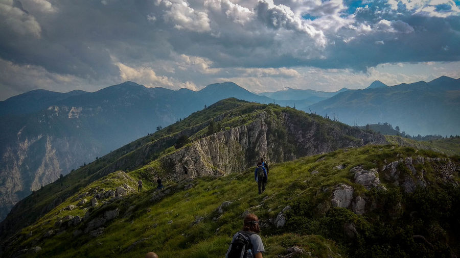 Hiking Hiking Activity Adventure Beauty In Nature Cloud - Sky Hiking Idyllic Landscape Leisure Activity Lifestyles Mountain Mountain Peak Mountain Range Nature Non-urban Scene One Person Outdoor Photography Outdoors Peja Real People Rear View Scenics - Nature Sky Tranquil Scene Tranquility