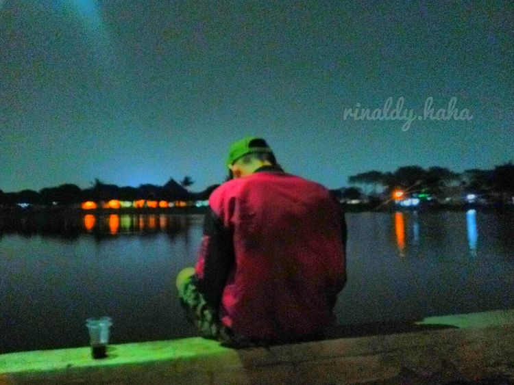 Marakash Lake/Danau Marakash, Water Night Outdoors Men Lake One Person Rear View Nature Nature Bekasi, Indonesia Bekasi,Indonesia.