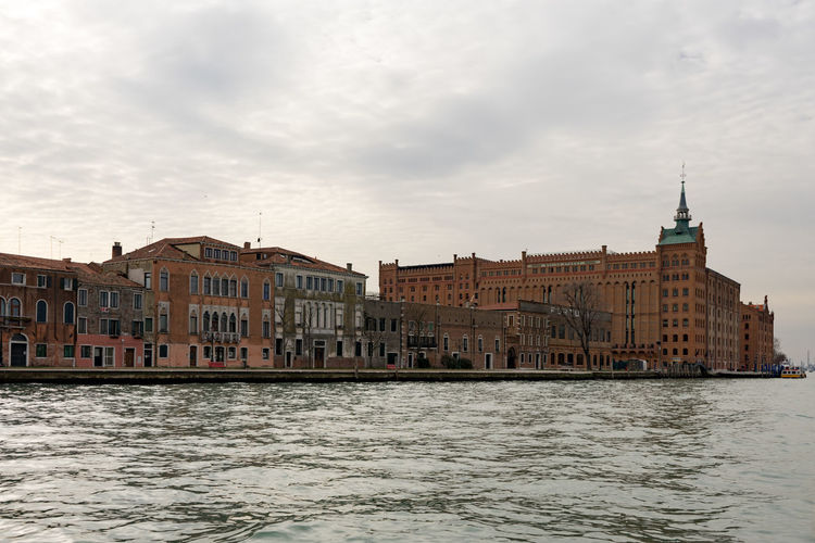 Giudecca Building Exterior Architecture Built Structure Water Sky Cloud - Sky Waterfront Nature Building City Travel Destinations Day River No People Travel Rippled Outdoors Tourism Spire  Giudecca Sea
