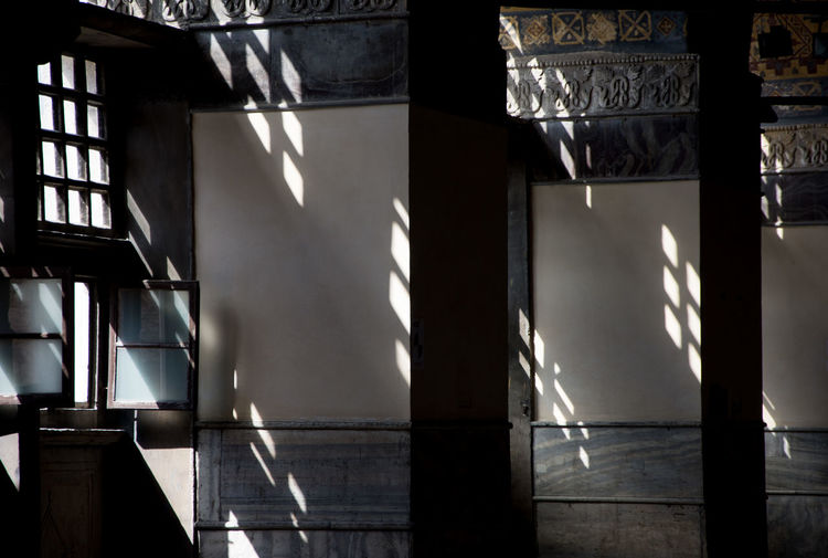 Hagia Sophia Arabic Architecture Arabic Style Architecture Built Structure Contrast Day Indoors  Light And Shadow No People Pattern Shadow Sunlight