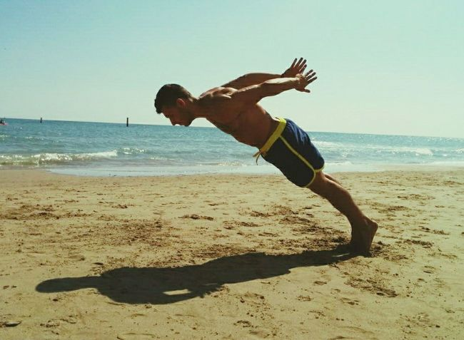 Muay thai pushup Streetworkout Enjoying Life Calisthenics Seaside