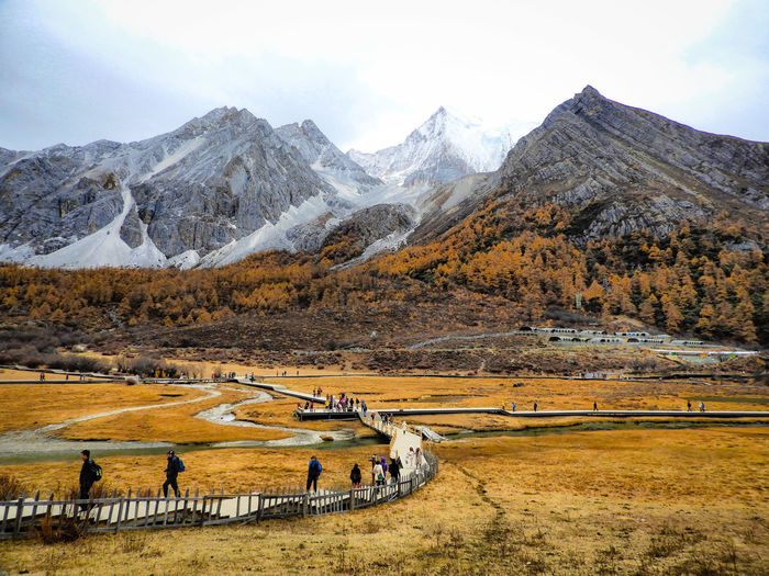 Joy is found not in finishing an activity but in doing it. Focus on the journey... Mountain Snow Sky Landscape Mountain Range Horse Snowcapped Mountain Calm