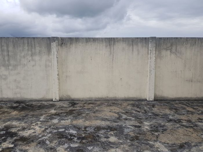 View of concrete wall against sky