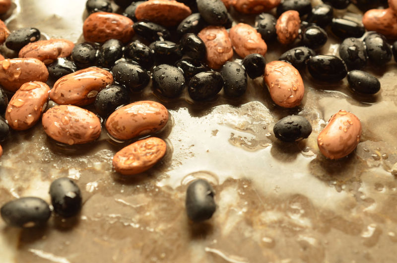 Dry pinto and black beans