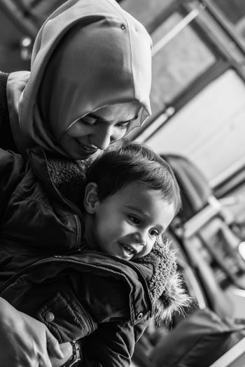 Child Two People Togetherness Childhood Males  Boys Females Portrait Real People Mother And Son Mother And Child Mother And Baby Blackandwhite Photography