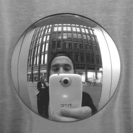 Oh Hai Dere Reflection Convex Mirror Geometric Shapes