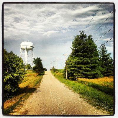 Clouds Sunlight Roadtrip Road Postcard Watertower Nebraska Royalsnappingartists Sunlit Beatrice Ig_ruralamerica Rsa_rurex Trb_ex_scapes Landscapealma
