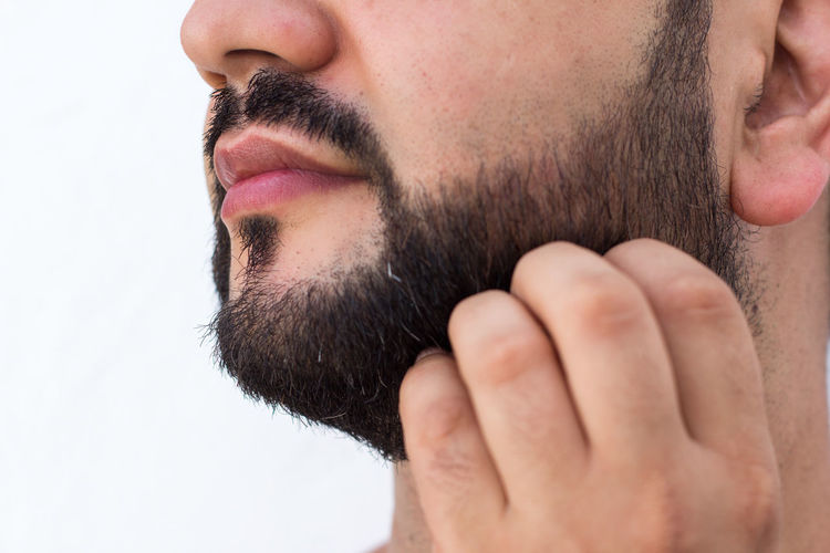 Movember November Adult Beard Body Part Chin Close-up Facial Hair Father Headshot Human Body Part Human Face Human Lips Leisure Activity Lifestyles Men Midsection Mustache Mustaches One Person Portrait Profile View Side View Young Adult Young Men