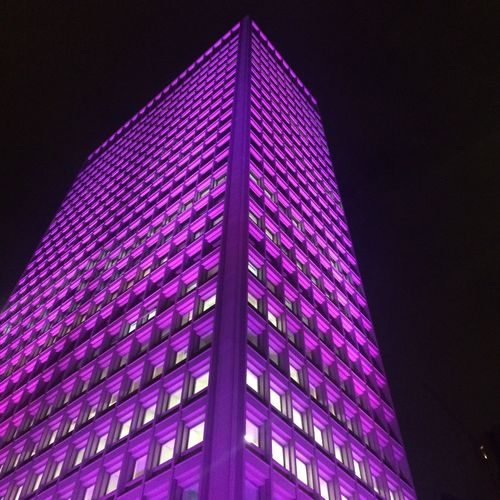 Night Illuminated Built Structure Low Angle View Building Exterior Architecture Tall - High