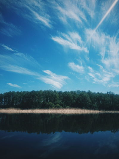 Rajgród, Poland. Reflection Tree Lake Sky Nature Cloud - Sky Water Beauty In Nature Landscape Forest VSCO EyeEm Best Shots EyeEm Best Edits Horizon Over Water Springtime The Great Outdoors - 2017 EyeEm Awards