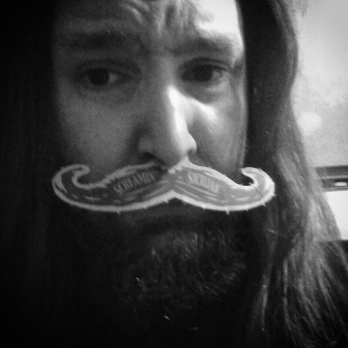 I mustache you a question!!!! Bearded Mustache Man Single Person Black And White Inner Power