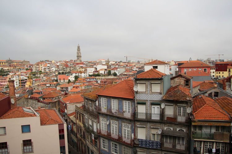 Medieval houses in the old part of Ribeira, Porto, Portugal Building Exterior Architecture Built Structure Building City Residential District Roof House Cityscape Nature Sky High Angle View Outdoors Cloud - Sky Day Community Town TOWNSCAPE Roof Tile Row House Porto Porto Portugal 🇵🇹 Portugal Ribeira No People