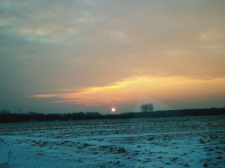 Sunset Cold Temperature Winter Snow Nature Sky Cloud - Sky No People Extreme Weather Beauty In Nature