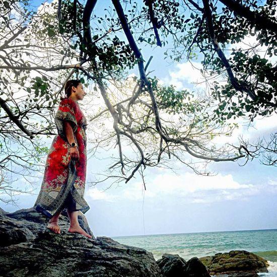 Kanom beach Beach Reef Sky Nature Thailand Nakhon Si Thammarat Girl My Best Photo 2014 Photography EyeEm Best Shots