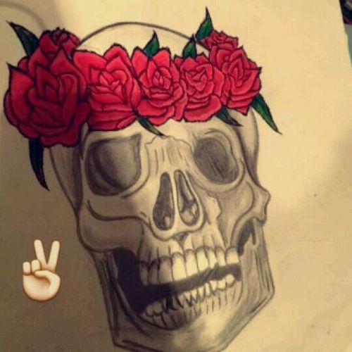 J'aime beaucoup dessiner, c'est ma passion Tetedemort Fleurs