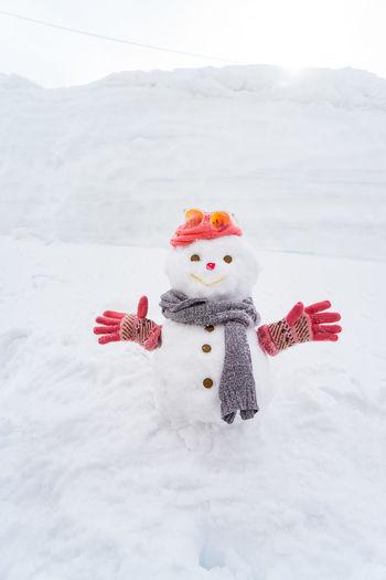 Snowman Against Sky