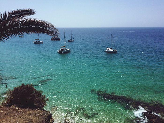 Clear Sky Sea Boat Beach First Eyeem Photo