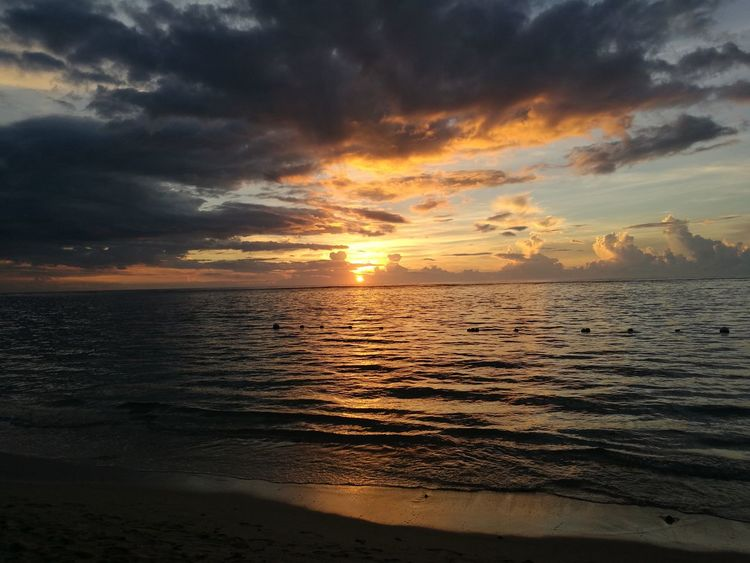 Sunset Sea Beach Nature Dramatic Sky Outdoors Tranquility Cloud - Sky Beauty In Nature Scenics Landscape No People Sun Sky Horizon Over Water Water Day EyeEmNewHere