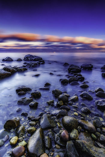 Stones at dusk, a long exposure. [35/365] 2016.11.13 Today I went to Orłowo again and did a little portrait landscape. Shot with Samyang 12mm f/2 NCS CS lens + CPL + 5-stop ND filter and 3-stop gradual ND filter Baltic Sea Beach Beauty In Nature Cloud - Sky Day Long Exposure Nature No People Outdoors Reflection Scenics Sky Sunset Tranquil Scene Tranquility Water Water Reflections