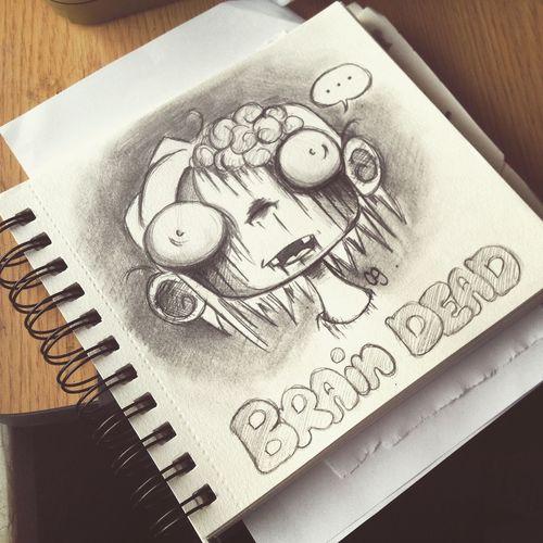 Drawing Cute Creepy Doodle Cartoon Art Bored Work Flow Zombie