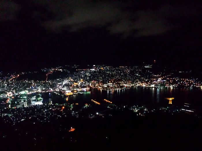 Nagasaki nightscape from Mt. Inasa || Inasayama Nightscape Nagasaki Nippon Tourist Mode Travel Destinations City Lights