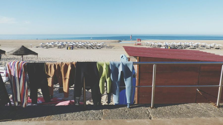 EyeEm Selects Sea Beach Hanging Horizon Over Water Sand Vacations Outdoors Sky Water No People Surfing Life Surf Clothing Clear Sky Blue Day Summer Exploratorium