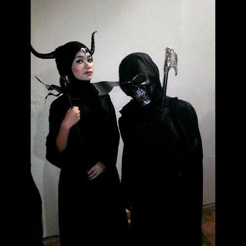 Angels of Death Maleficent & Grim_Reaper Halloween_CP_2014 Freemanngrim Hæzhgrim