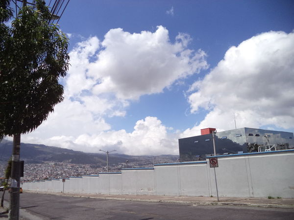 Some fresh taken today... :) Architecture City Street Clouds Day Mountain No People Outdoors Quito Ecuador QuitoHighmountain Sky Street Photography Wall