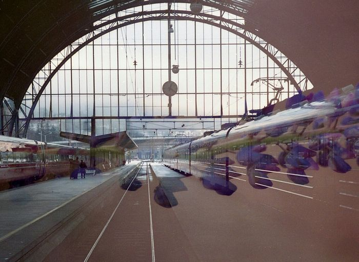 Film Swap: At the Speed of Lupine Film Swap 35mm Film Lithuania Norway Multiexposure  Trainstation Railwaystation Trains Lupine Analogue Photography Surreal