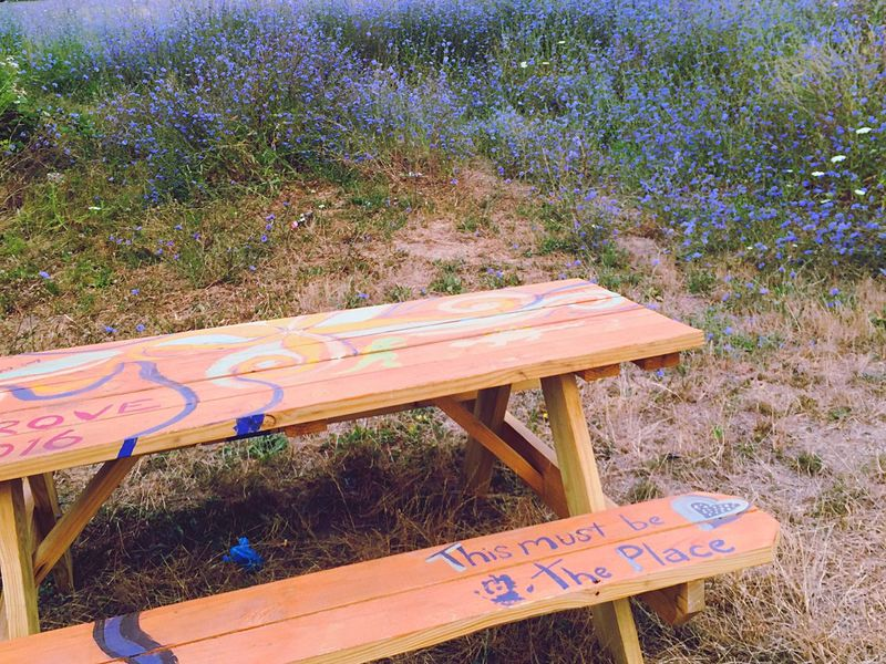 Reed Reed College Portland Portland Oregon Defaced Wooden Table