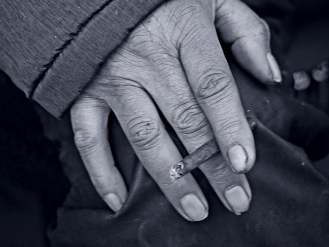 Adult Adults Only Bonding Cigarillo Close-up Day Dirty Fingers Fingernail Homeless Human Body Part Human Finger Human Hand Indoors  Men One Person People Real People Senior Adult